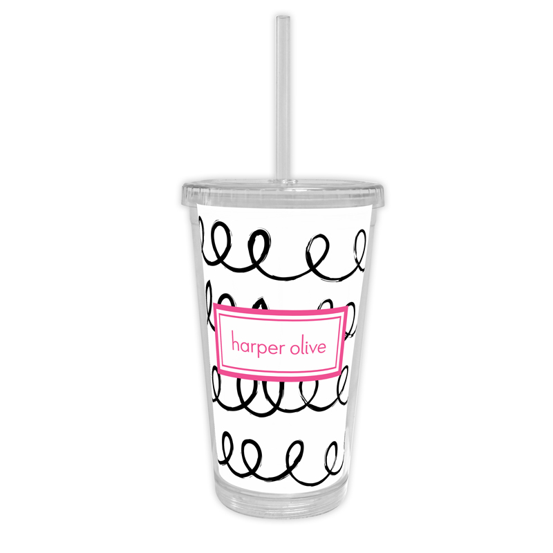 Weeeee Personalized Cold Tumbler with Straw