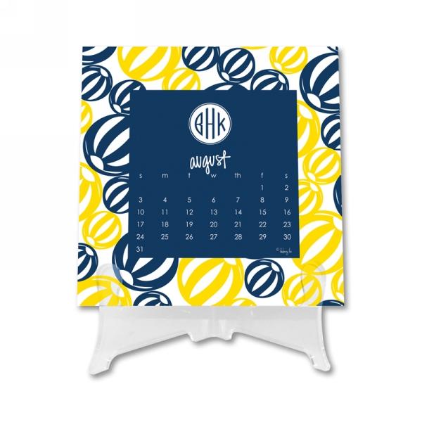 Monogram Calendar 1 Personalized Desktop 12 Month Calendar
