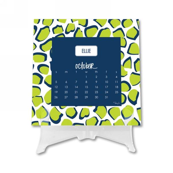 Name Calendar 1 Personalized Desktop 12 Month Calendar