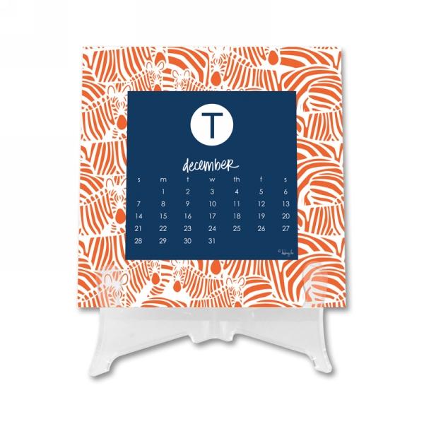 Initial Calendar 1 Personalized Desktop 12 Month Calendar