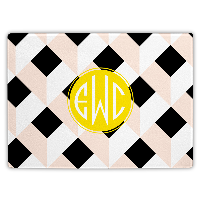 Golden Girl Personalized Glass Cutting Board
