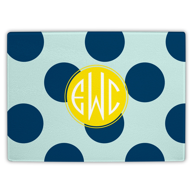 Jane Personalized Glass Cutting Board