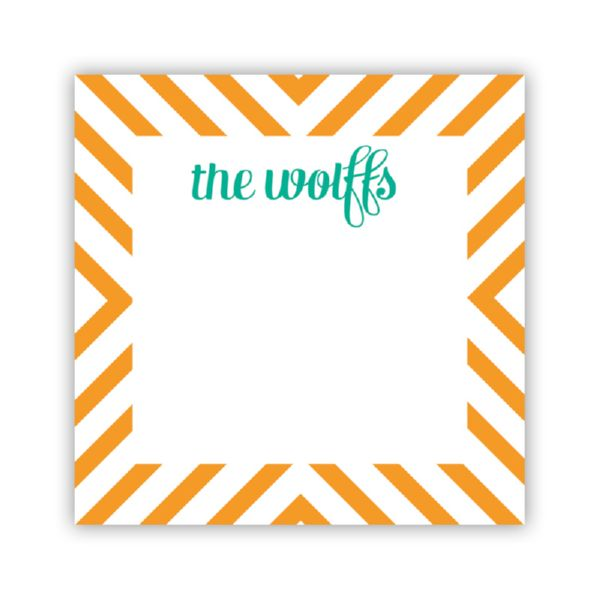 Chevron Personalized Calling Card / Enclosure Card (25)