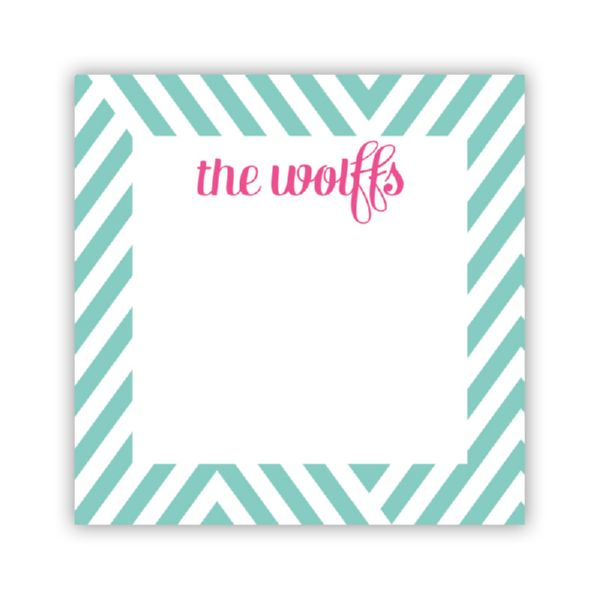 Modern Chevron Personalized Calling Card / Enclosure Card (25)
