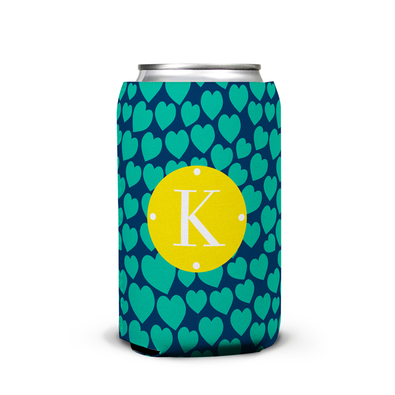 Love Struck Personalized Can Koozie
