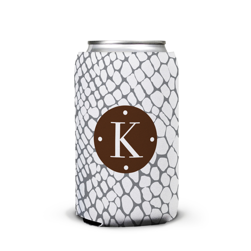 Snakeskin Personalized Can Koozie