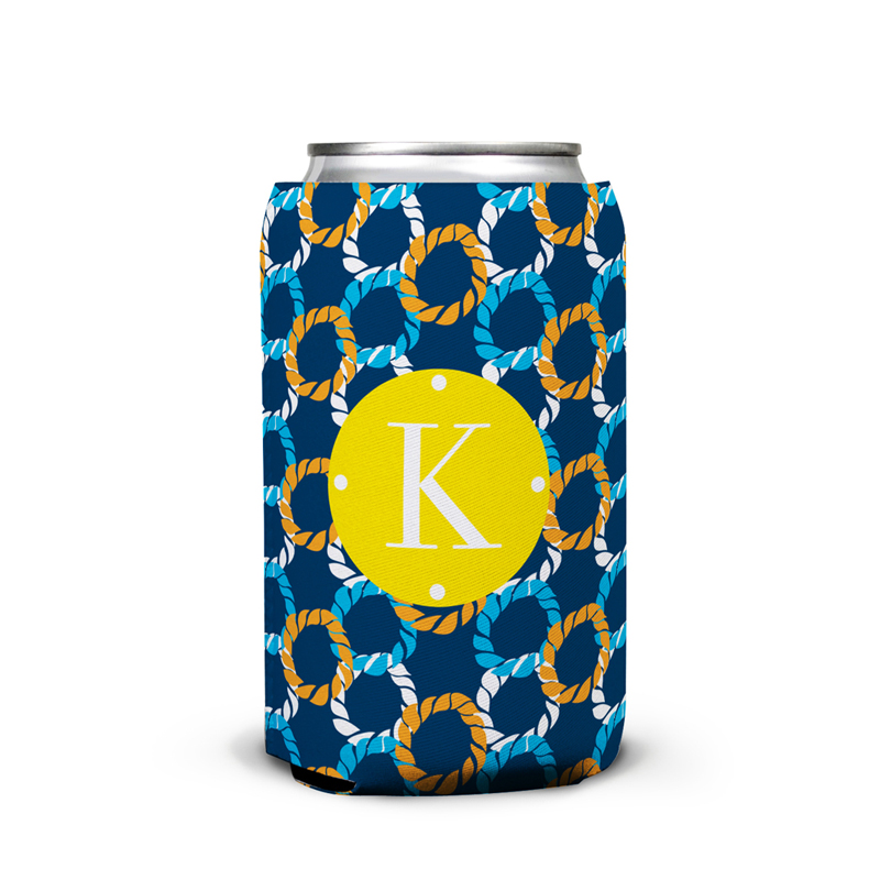 Nautical Knots Personalized Can Koozie