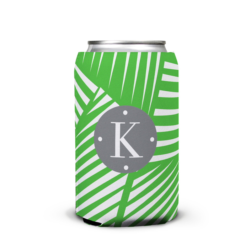 Palm Personalized Can Koozie
