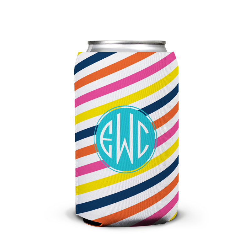 Fruit Stripe Personalized Can Koozie