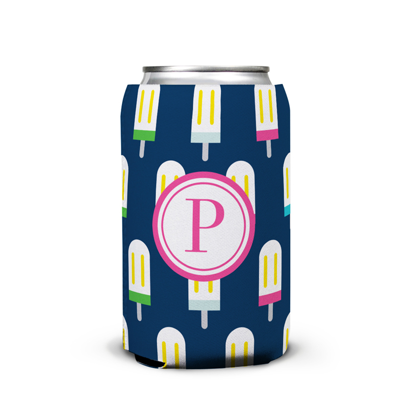 Let's Pop Personalized Can Koozie