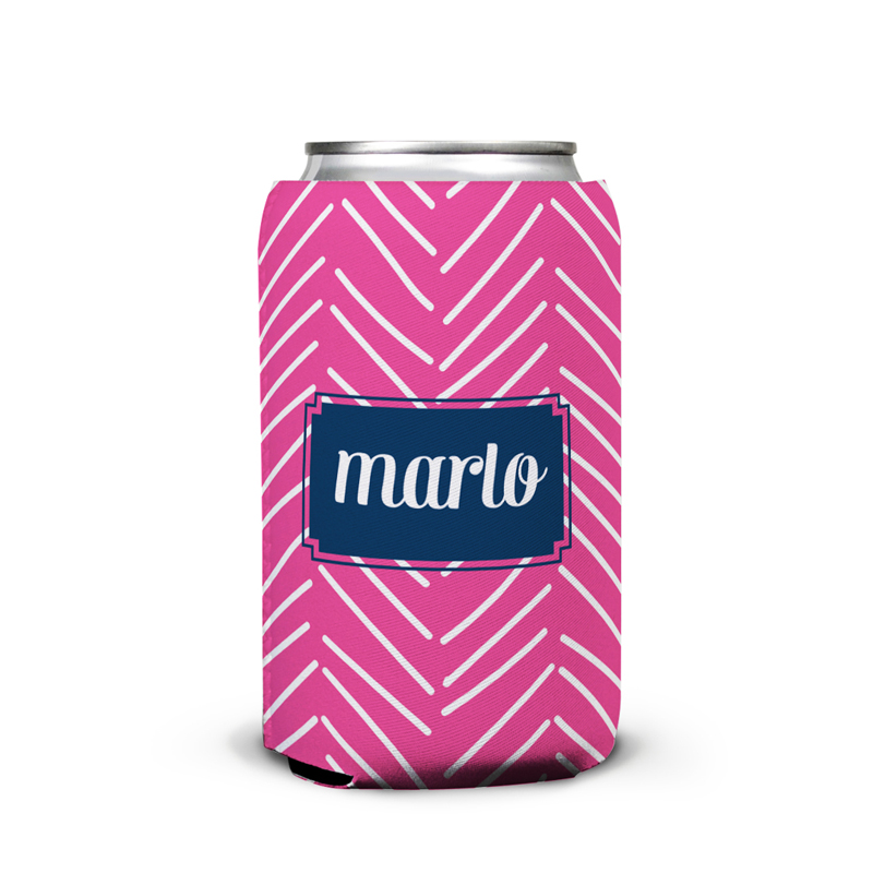 Little Lines Personalized Can Koozie