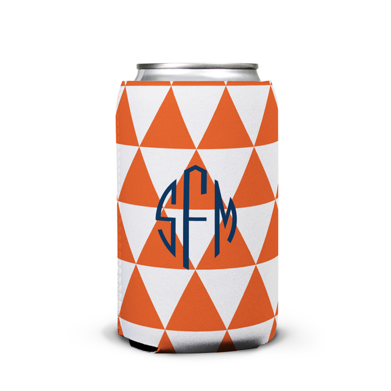 Triangles Personalized Can Koozie