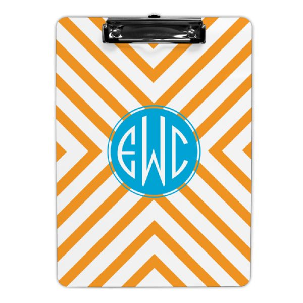 Chevron Personalized Clipboard 9x12