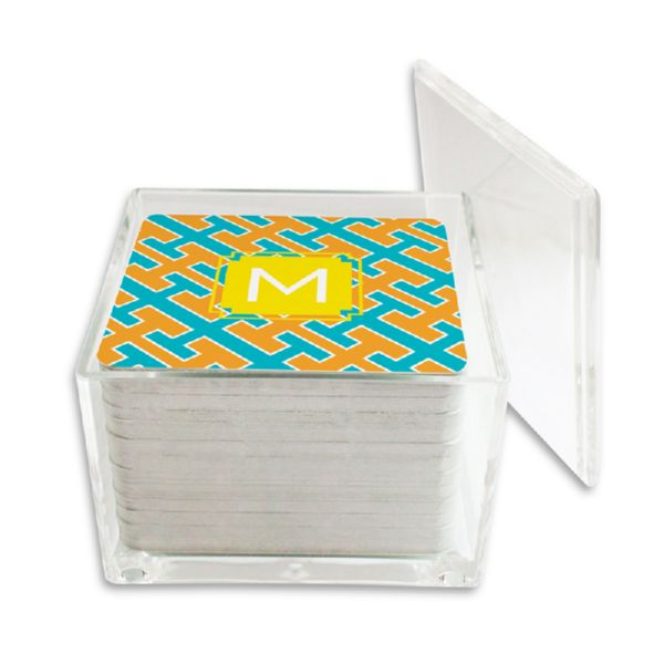 Acapulco Personalized Paper Drink Coasters (125 in holder)