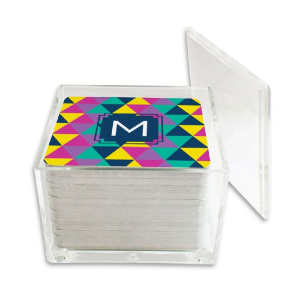 Acute Personalized Paper Drink Coasters (125 in holder)
