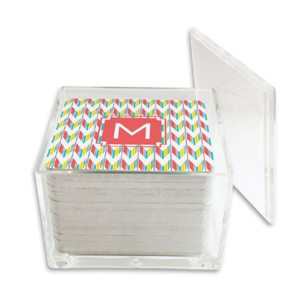 Arrowhead Personalized Paper Drink Coasters (125 in holder)