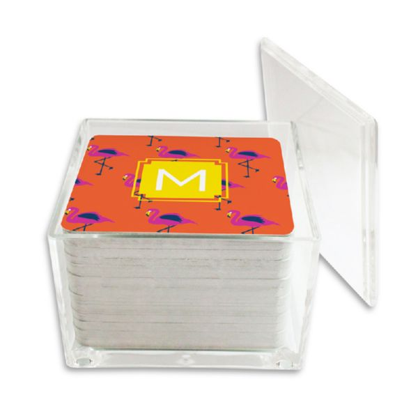 Hadley Personalized Paper Drink Coasters (125 in holder)