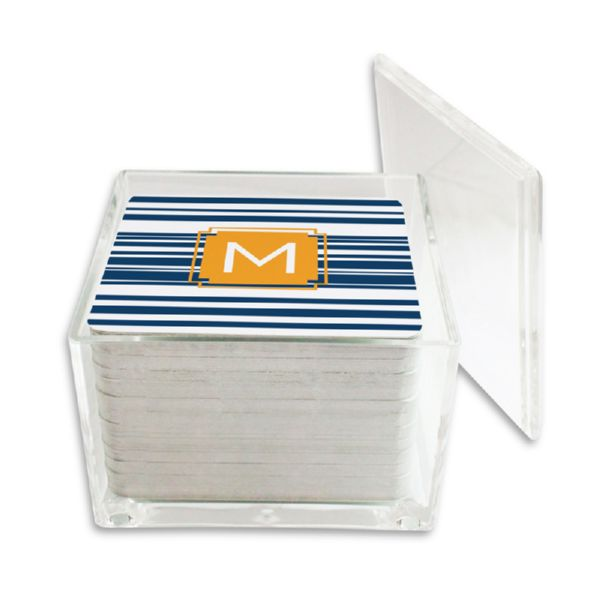Block Island Personalized Paper Drink Coasters (125 in holder)