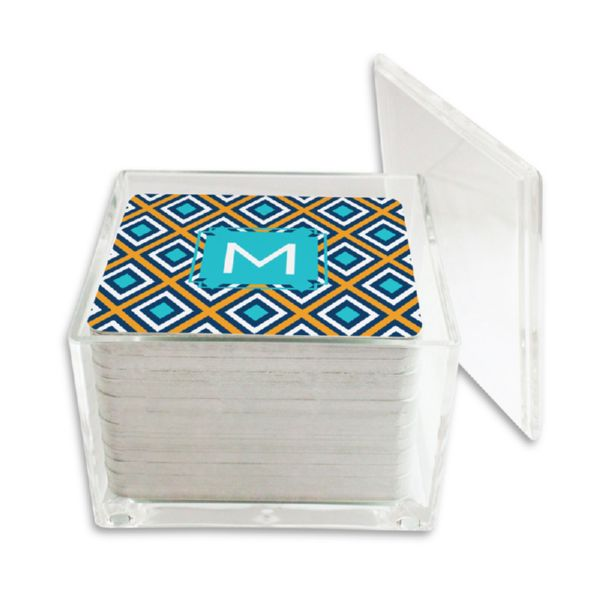 Lantern Personalized Paper Drink Coasters (125 in holder)
