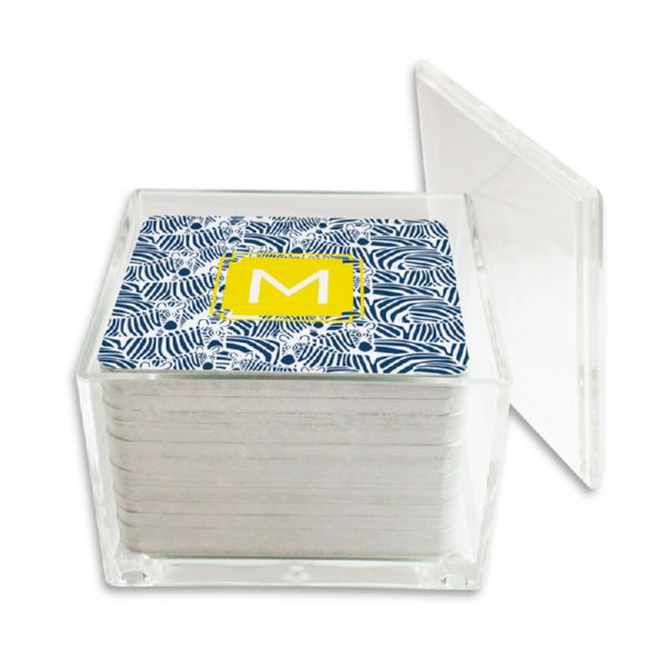 Bruno Personalized Paper Drink Coasters (125 in holder)