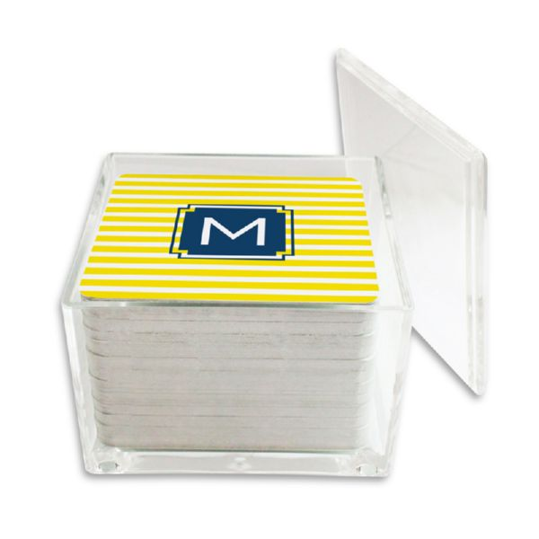 Cabana Personalized Paper Drink Coasters (125 in holder)