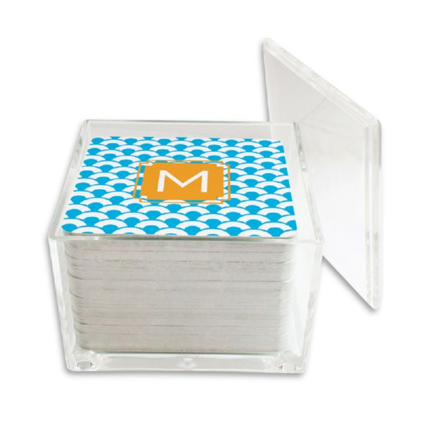 Coins Personalized Paper Drink Coasters (125 in holder)