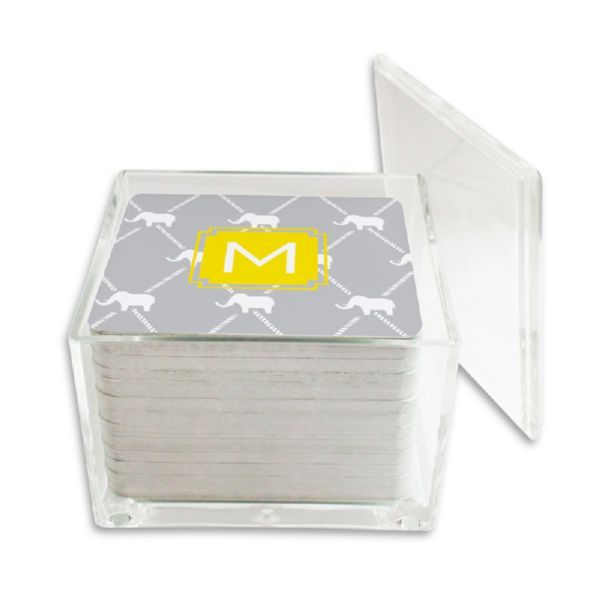 Dumbo Personalized Paper Drink Coasters (125 in holder)