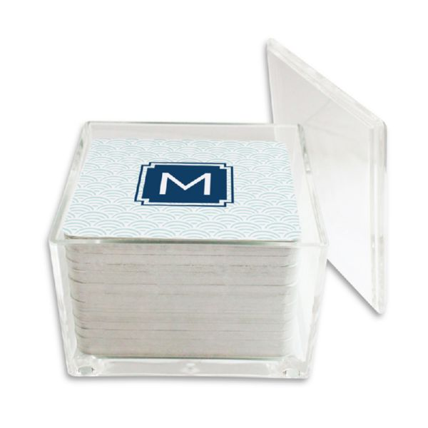Ella Personalized Paper Drink Coasters (125 in holder)