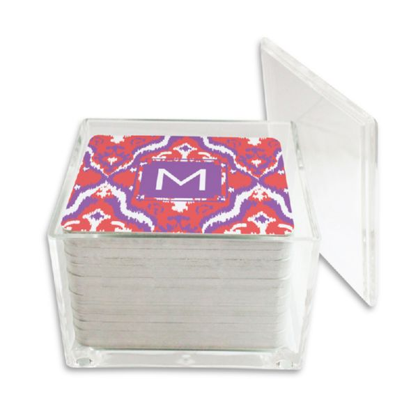 Elsie Personalized Paper Drink Coasters (125 in holder)