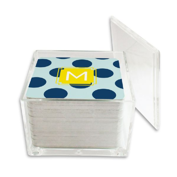 Jane Personalized Paper Drink Coasters (125 in holder)