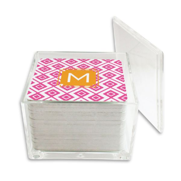 Lucy Personalized Paper Drink Coasters (125 in holder)