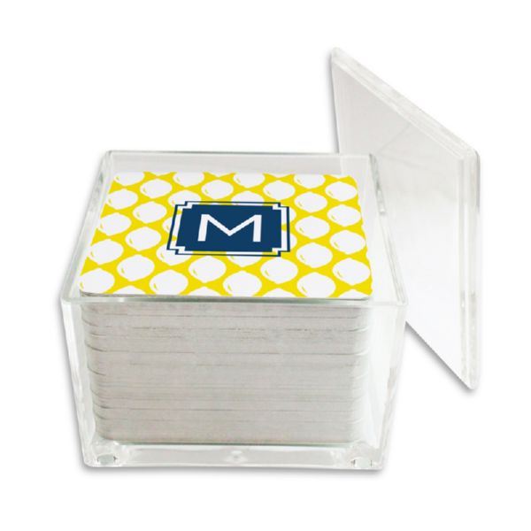 Meyer Personalized Paper Drink Coasters (125 in holder)
