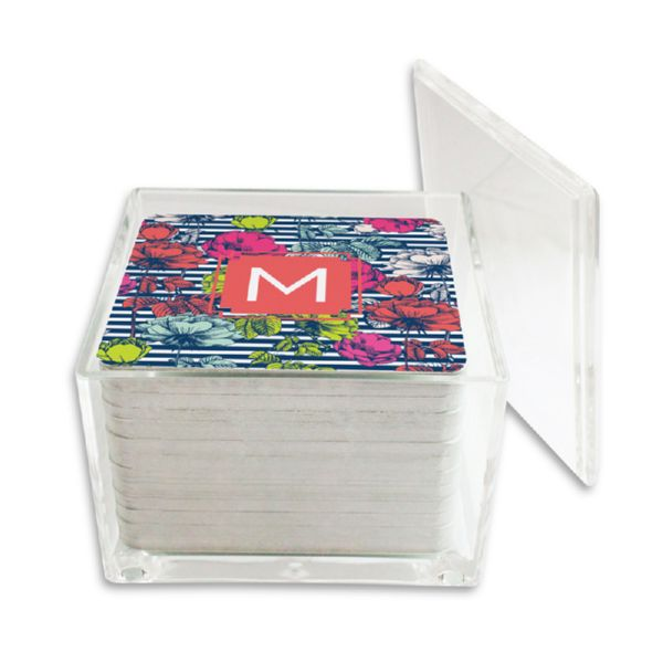 Millie Personalized Paper Drink Coasters (125 in holder)