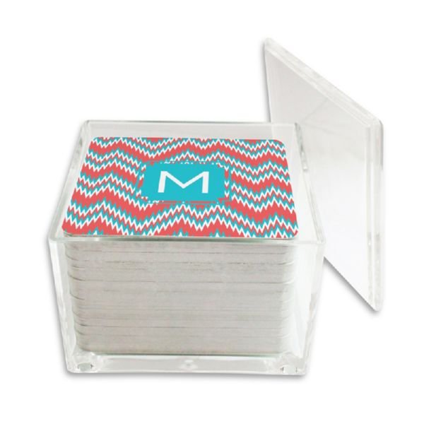 Mission Fabulous Personalized Paper Drink Coasters (125 in holder)