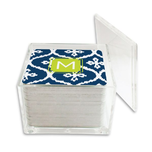 Montauk Personalized Paper Drink Coasters (125 in holder)