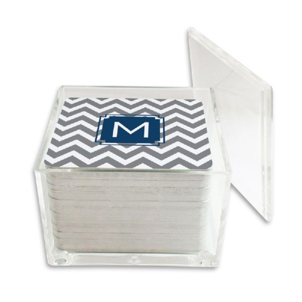 Ollie Personalized Paper Drink Coasters (125 in holder)