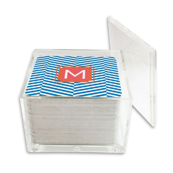 Perspective Personalized Paper Drink Coasters (125 in holder)