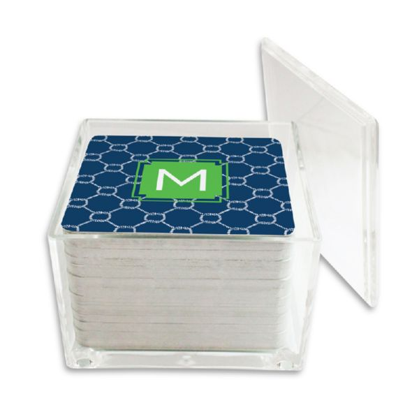 Rope Personalized Paper Drink Coasters (125 in holder)