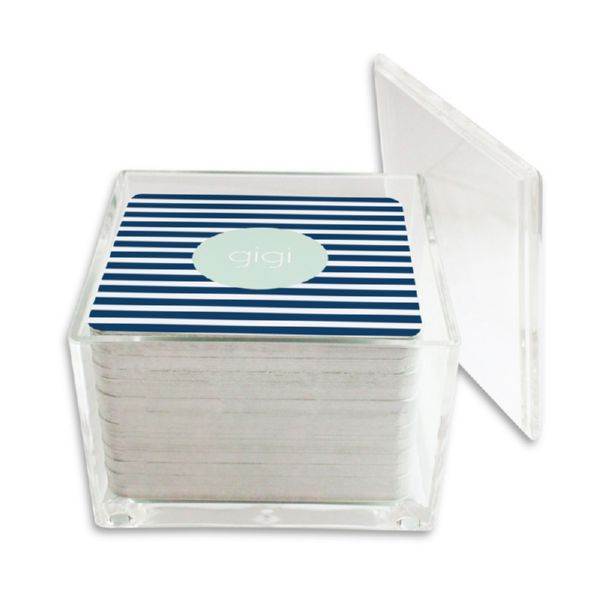 Cabana 3 Personalized Paper Drink Coasters (125 in holder)