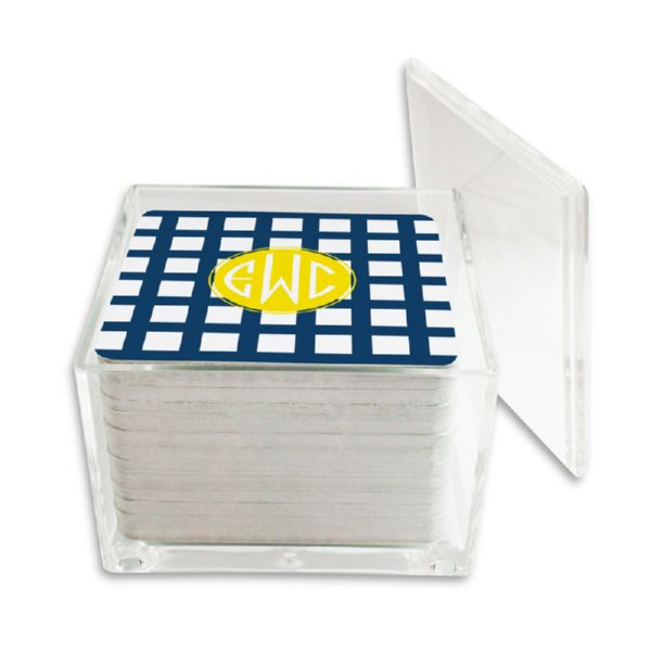 Checks & Balances Personalized Paper Drink Coasters (125 in holder)
