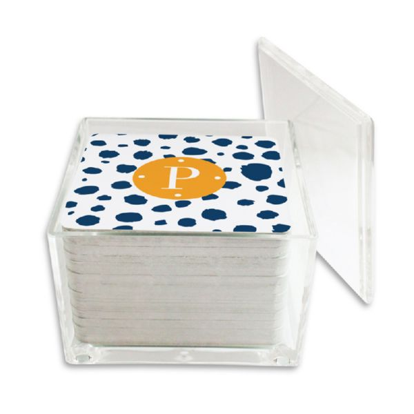 Cheetah Personalized Paper Drink Coasters (125 in holder)
