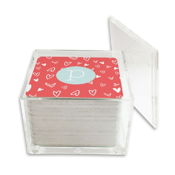 Love It Personalized Paper Drink Coasters (125 in holder)