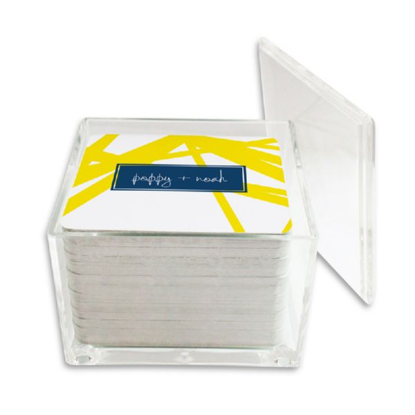 Pick Up Stix Personalized Paper Drink Coasters (125 in holder)