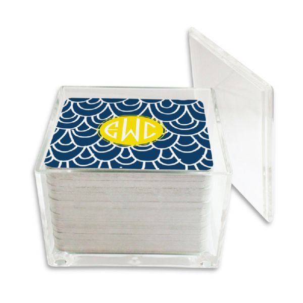 Top Deck Personalized Paper Drink Coasters (125 in holder)