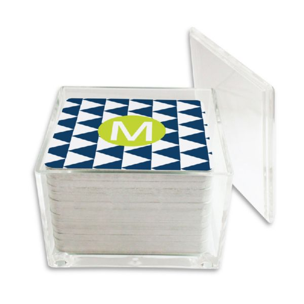 Try Me Personalized Paper Drink Coasters (125 in holder)