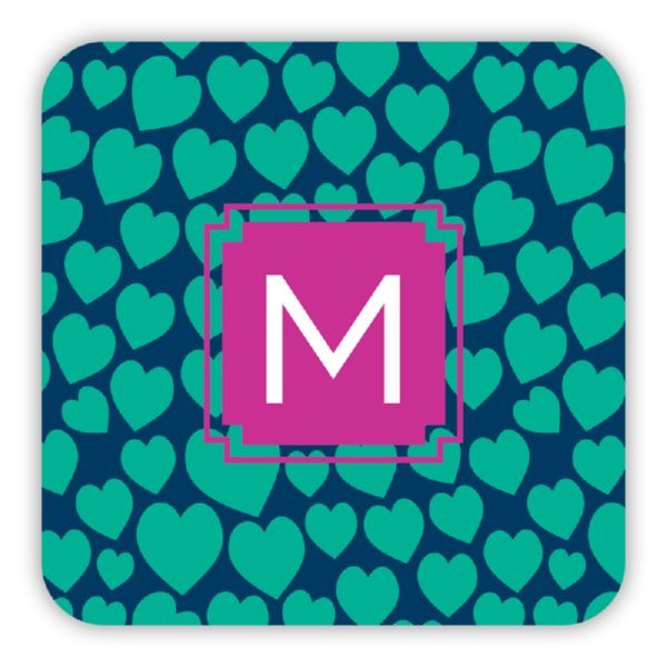 Love Struck Personalized Paper Drink Coasters (125)