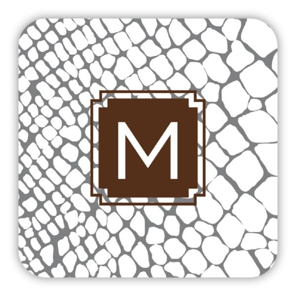 Snakeskin Personalized Paper Drink Coasters (125)