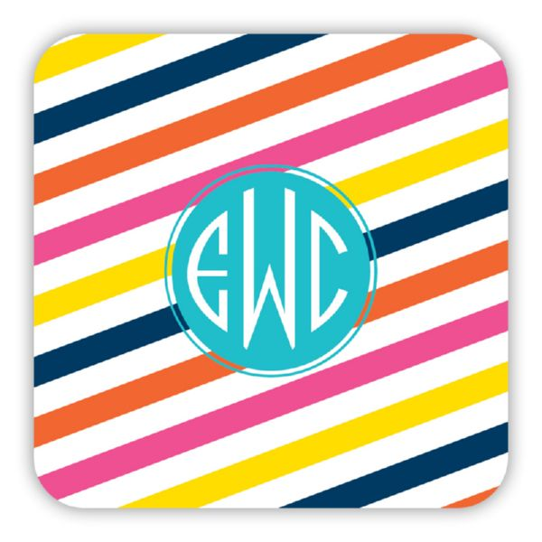 Fruit Stripe Personalized Paper Drink Coasters (125)