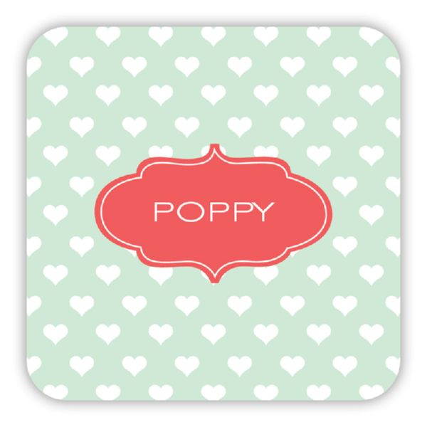 Minnie Personalized Paper Drink Coasters (125)