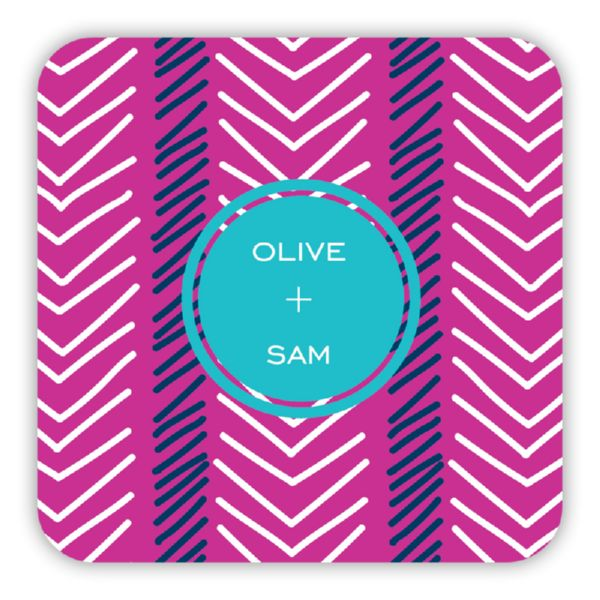 Topstitch Personalized Paper Drink Coasters (125)